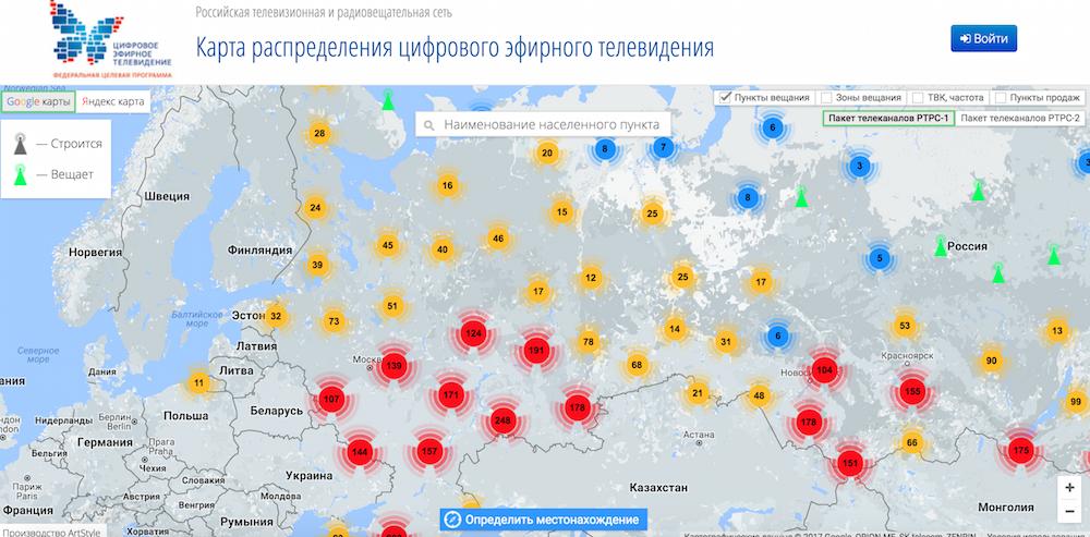 карта цифровых ретросляторов тверской области году дизайнеры