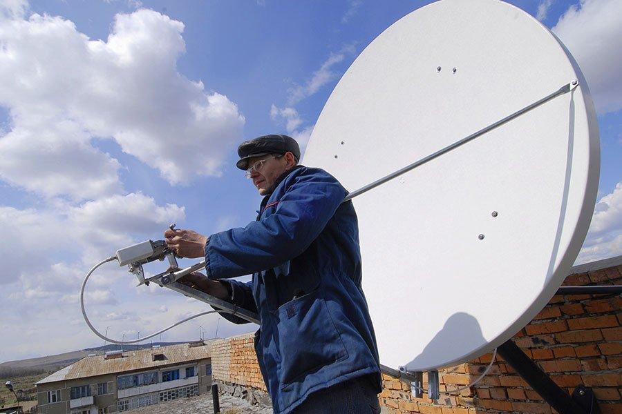 Как установить спутниковое тв своими руками 88